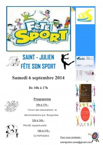 affiche fete sport OMS 2014